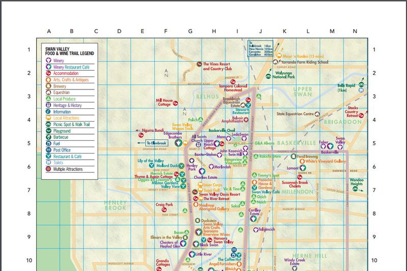 Download a map of the Swan Valley as a pdf