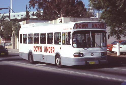 Down Under Bus Charter - Leyland National. About 1998